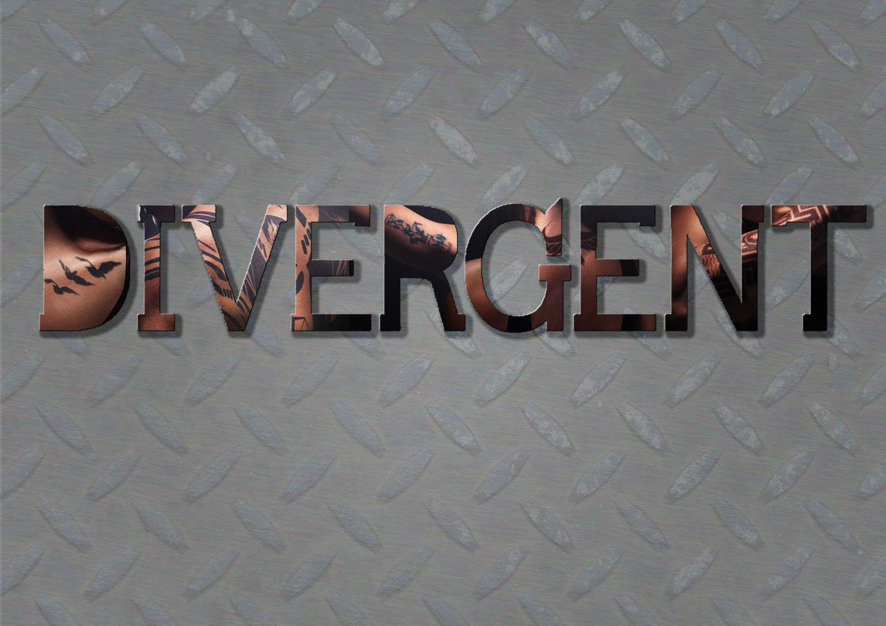 just-for-your-information:  Divergent logo with tattoo posters.  So cool!
