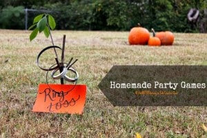 homemade birthday party games, decorations and favors