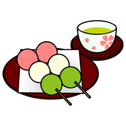 花見団子 素材クリップアート 彩クリweb