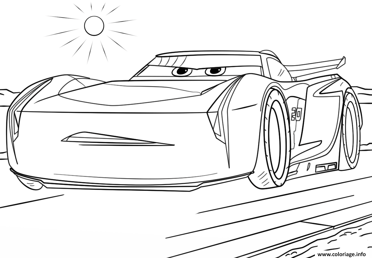Coloriage Jackson Storm From Cars 3 Disney Dessin   Imprimer