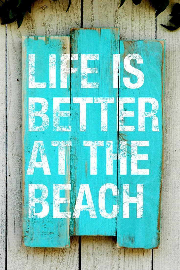 Beach House Decorating Sign with Saying  Made by JetmakDesigns, $68.00