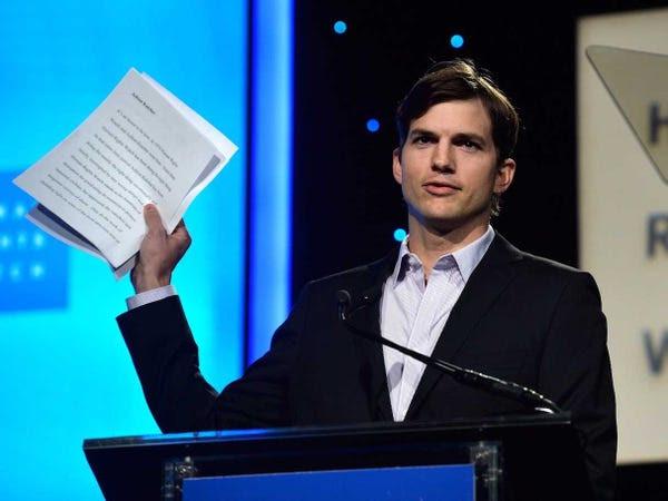 ashton kutcher speaking