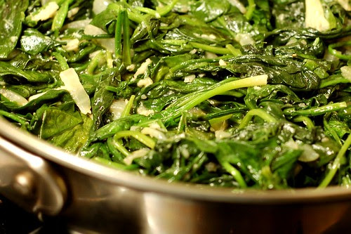 Simple Sauteed Spinach  by Eve Fox, Garden of Eating blog