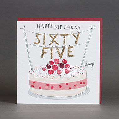 65 Today Birthday Card   Karenza Paperie