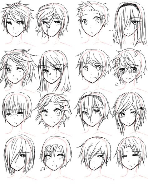 draw anime hairstyles  girls guy hairstyles