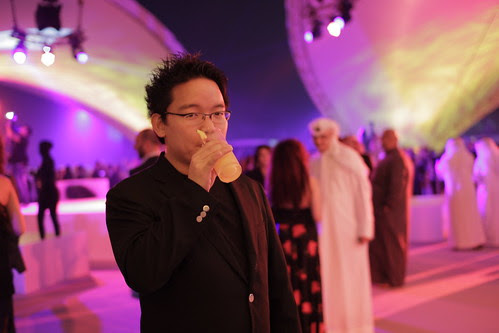 At the opening party of Dubai Film Fest