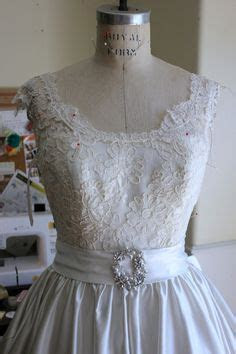 Altering a Wedding dress  Adding Shoulders and Sleeves to