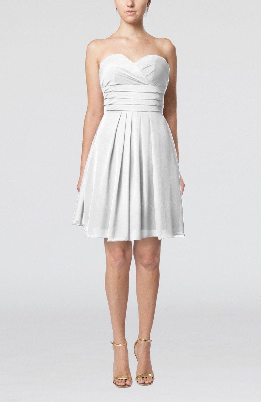 white simple sleeveless zip up chiffon pleated graduation