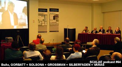 Mesa en Buenos Aires de la videoconferencia Oriol Bohigas con Justo Solsona