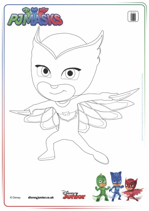 Disegni Pj Masks Super Pigiamini Da Colorare Pj Mask Paint Amaya
