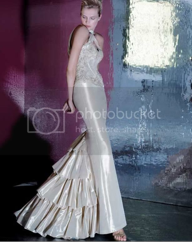 wedding gown with a tight style and more freely