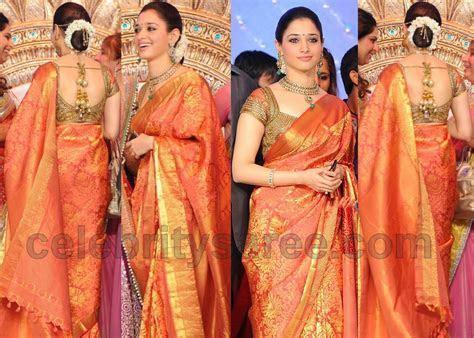 Tamanna Bridal Saree at Upasana Weddig   Saree Blouse Patterns