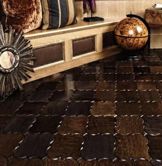 Wooden Floor Tiles - Parquet And Tiles Pattern
