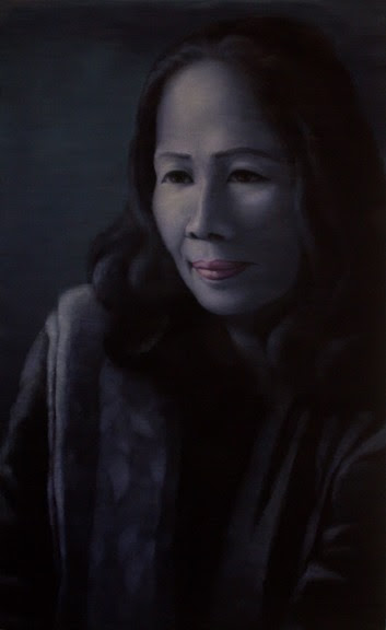 Portrait of the Poet Y Nhi. 2016. Oil on canvas. 130x80cm