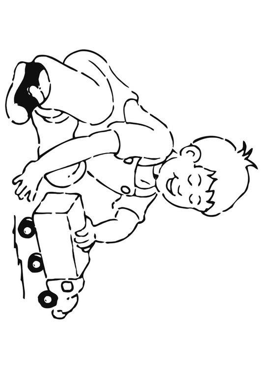Disegno Da Colorare Giocare Con Le Macchinine Cat 20931