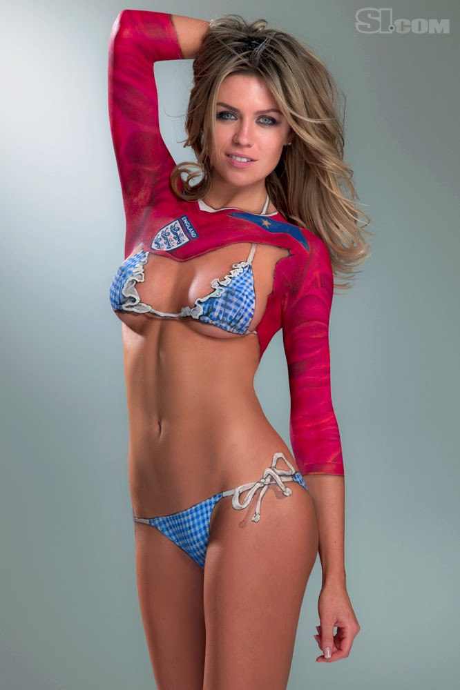 Body Painting - Abbey Clancy - Sports Illustrated Feb 2010