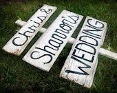 CUSTOMIZED Barn Wood Wedding Sign
