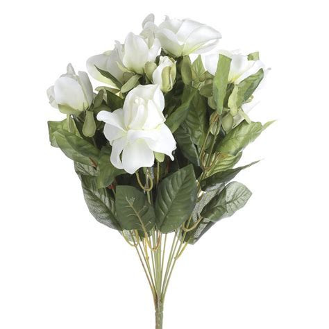 Ivory Artificial Rose Bush   Bushes and Bouquets   Floral