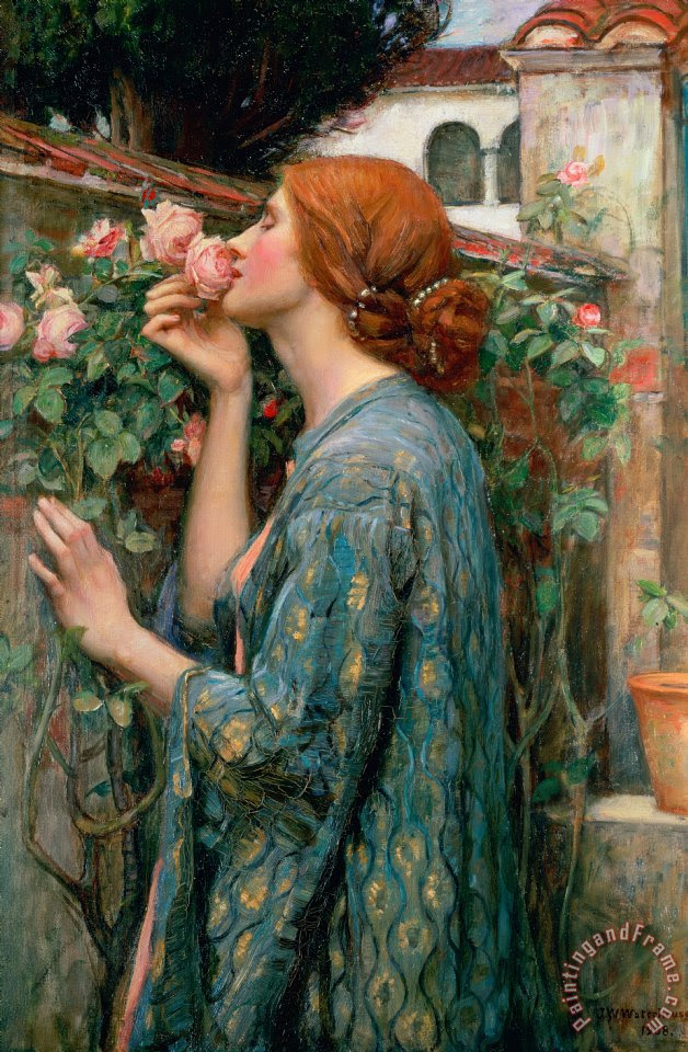 Image result for The Soul of the Rose John William Waterhouse painting