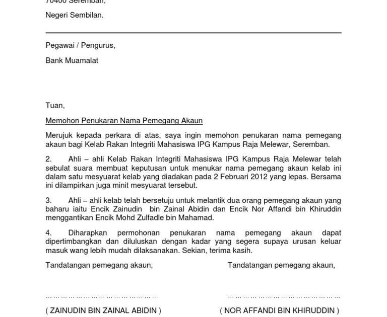 Contoh Surat Rasmi Permohonan Membuka Gerai - FRasmi