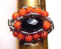 wire wrapped ethnic ring