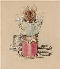 Frontispiece. The Tailor Mouse - Beatrix Potter