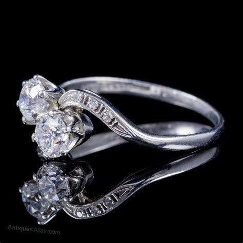 Antiques Atlas   Antique Edwardian Diamond Twist Ring Platinum
