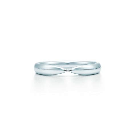 tiffany harmony wedding band  platinum  mm wide
