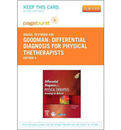 Differential Diagnosis for Physical Thetherapists ...