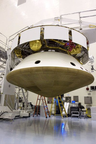 The Mars Science Laboratory spacecraft.