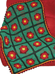 Poinsettia Granny Square Afghan Crochet Pattern Pack