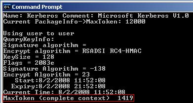 Output after executing TokenSZ
