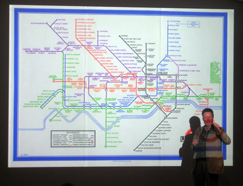 Becks first printed Tube map