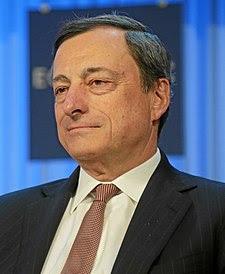 Mario Draghi al Forum Economico Mondiale nel 2013
