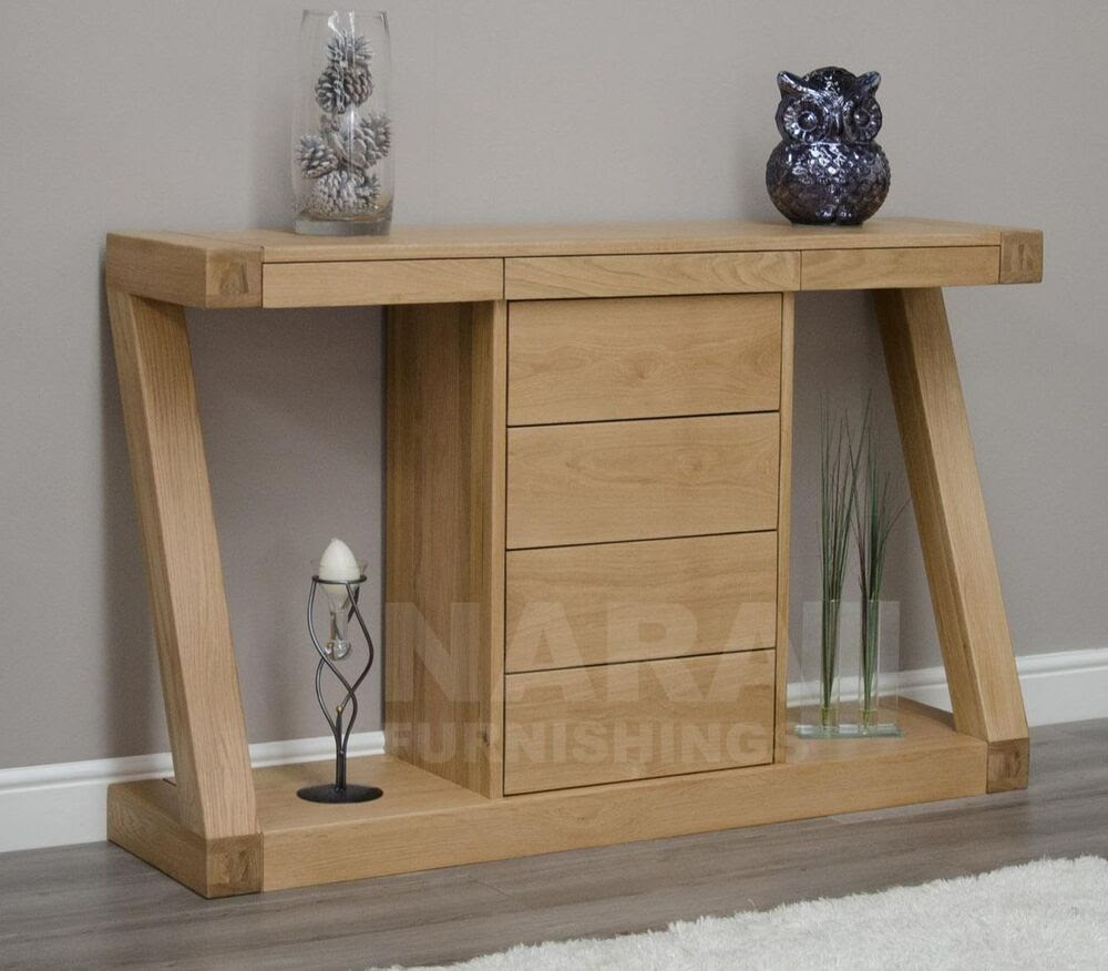London Oak Small Hall Table / Telephone Table / Solid Wood ...