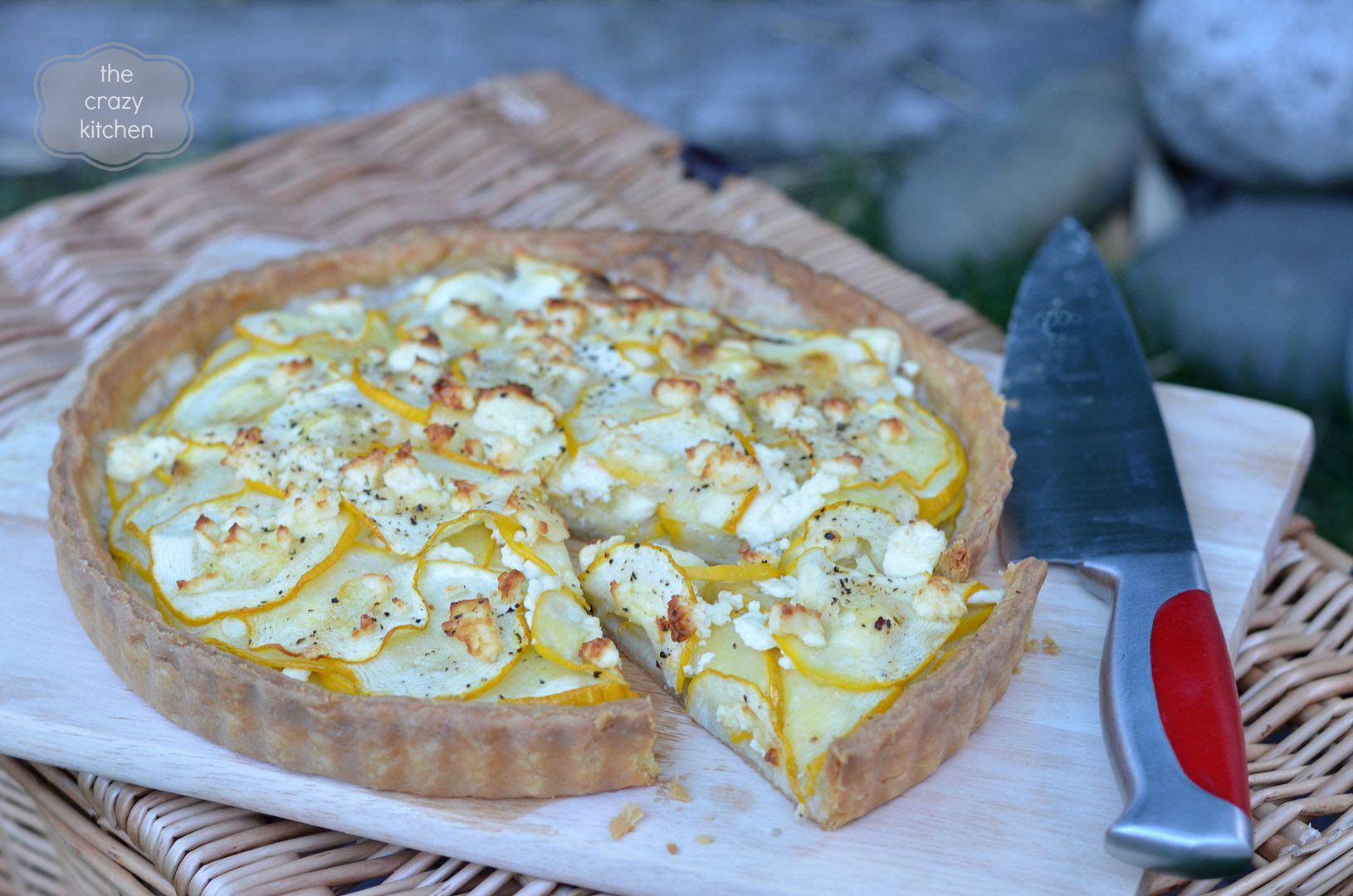 yellow courgette tart