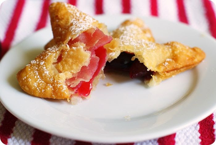 fried cherry pies ::: bake at 350 blog