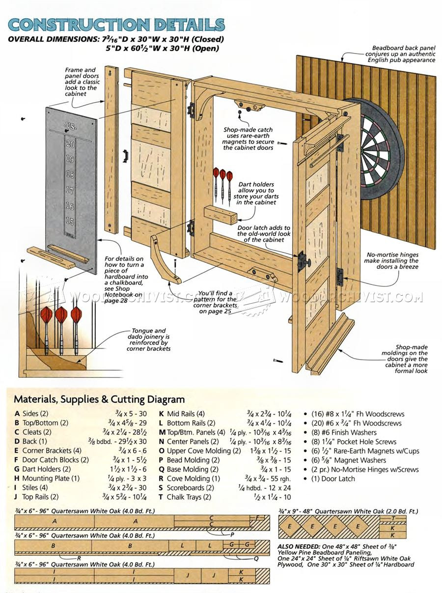 Free Woodworking Plans Of Dart Board Cabinet Amazing Wood