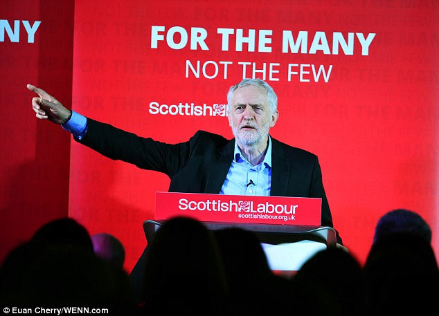 A spokesman for Jeremy Corbyn (pictured in Scotland on Monday) denied the allegations branding them 'smears'