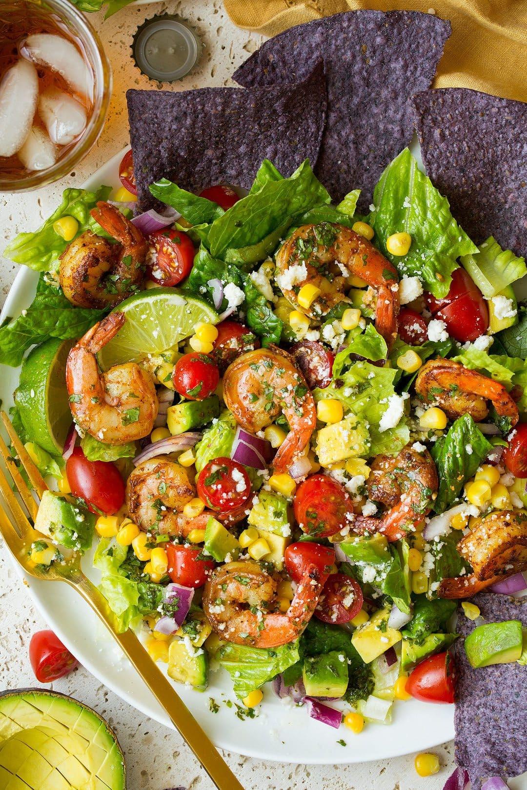Shrimp along with also Avocado Taco Salad