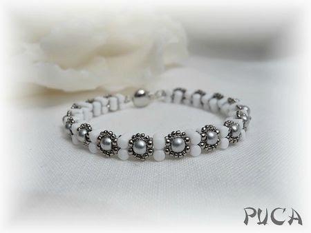"Avec les perles Rulla...  Bracelet Jonc "" Lee"""