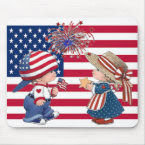 Celebrate American Flag mousepad