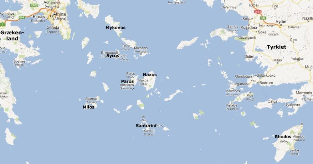 Det Græske øhav Kort | Kort