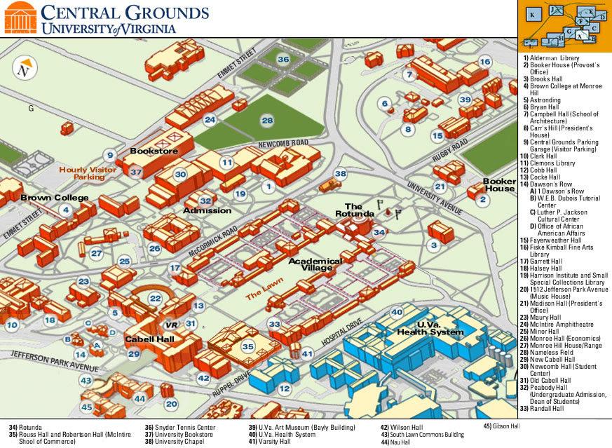 Uva Campus Map Uva Campus Map | States Maps