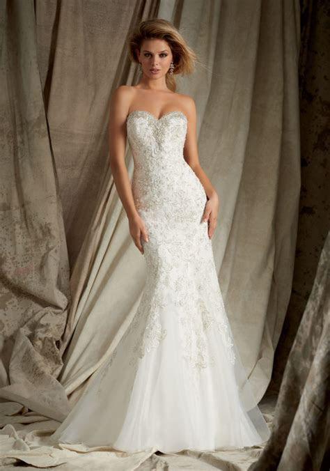 Swarovski Crystal Beading on Net Bridal Gown   Style 1328