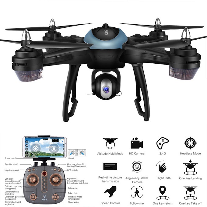 2018 Professional Drone 2.4G WIFI FPV 720P/1080P HD Wide-angle Camera GPS Positioning Follow Me One-button Return Quadcopter