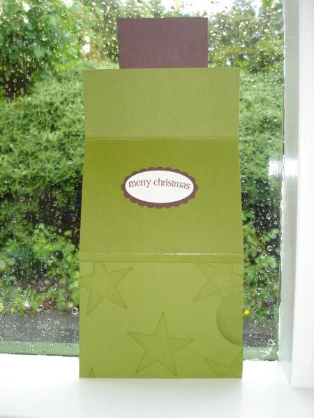Xmas gift card holder inside