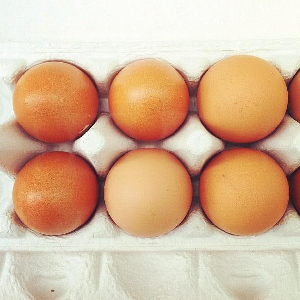 Eggs from Heleen's chooks.