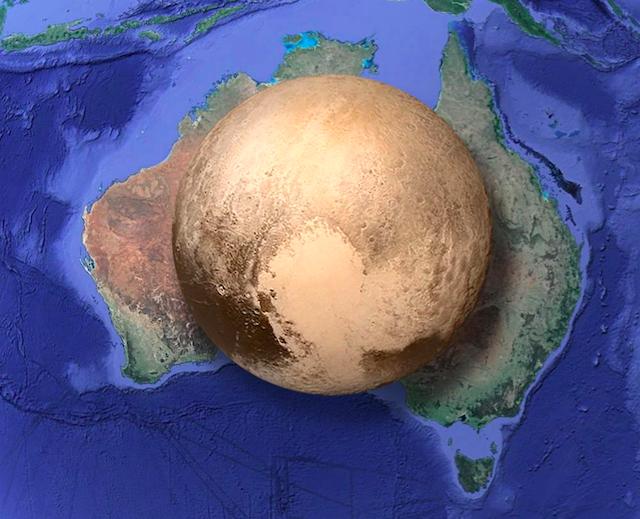 La imagen que te hará darte cuenta del tamaño real de Plutón