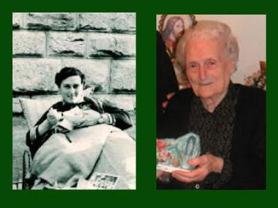 Anna Santaniello, antes da cura e 50 anos depois, Lourdes 150º aniversário das aparições